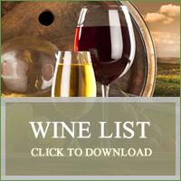 Wine List The Fox Rutland